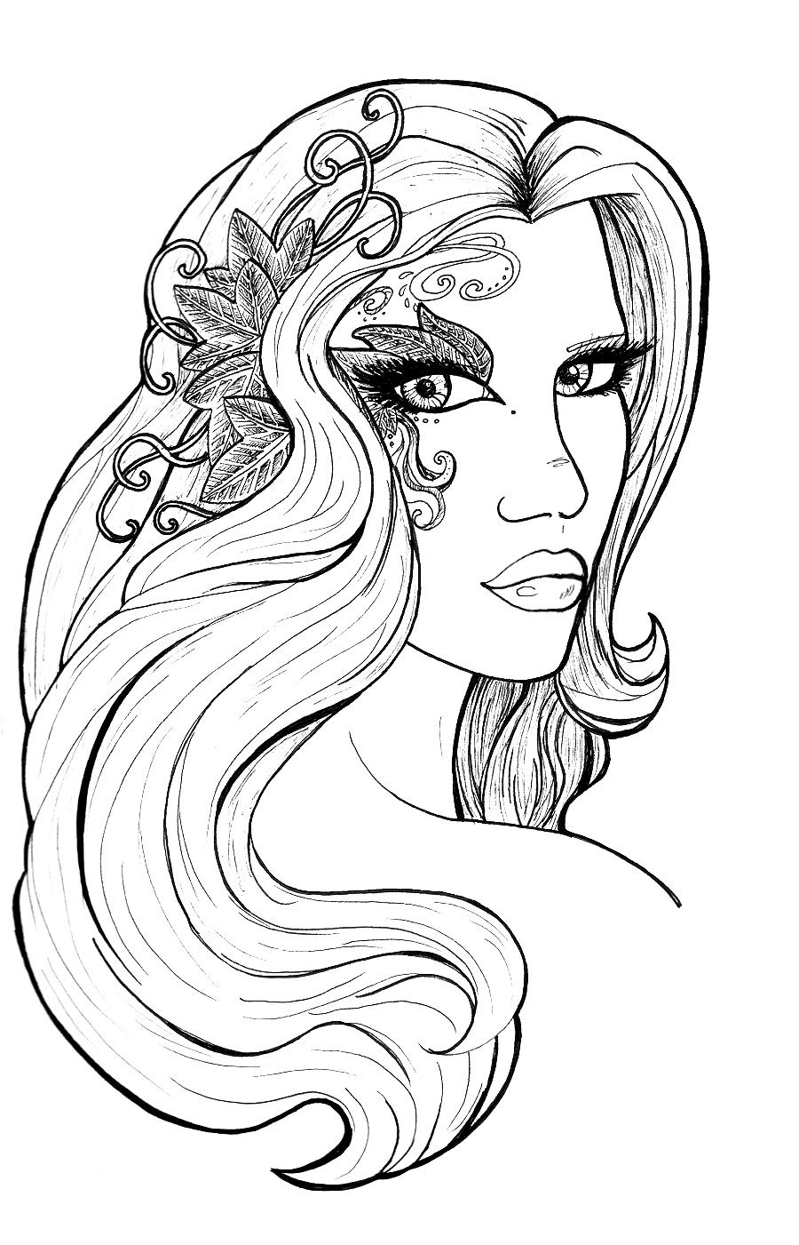 aphrodite stunning picture of aphrodite coloring page black