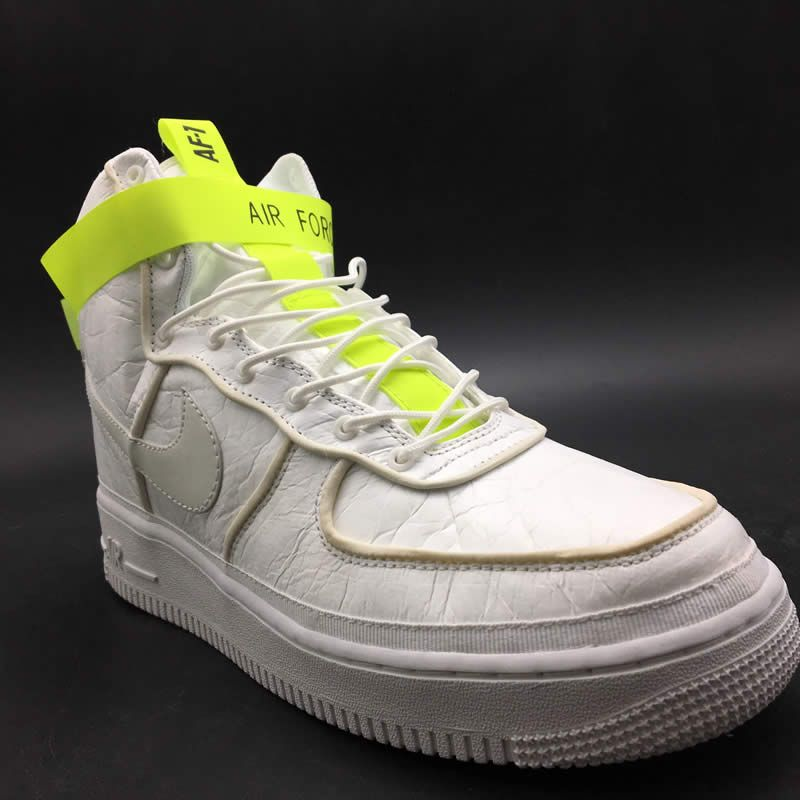 promo code b2297 3d3f5 white air forces ones 1 green magic stick high 07 vip qs detail images (9