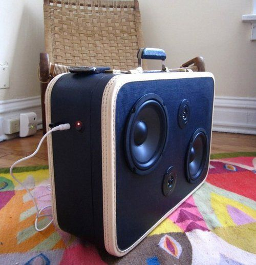 Suitcase or sound system I know someone who will want this in there house