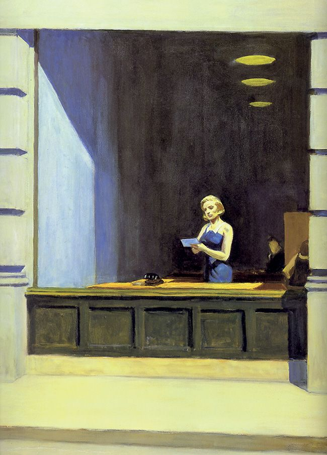 Edward Hopper New York Office Particolare