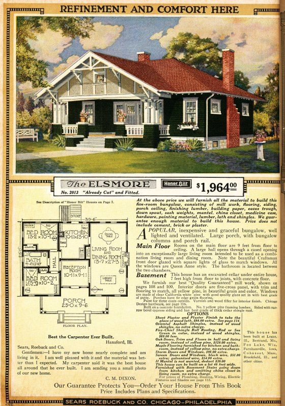 Sears Modern Homes Sears Catalog Homes Vintage House Plans Craftsman Style Bungalow