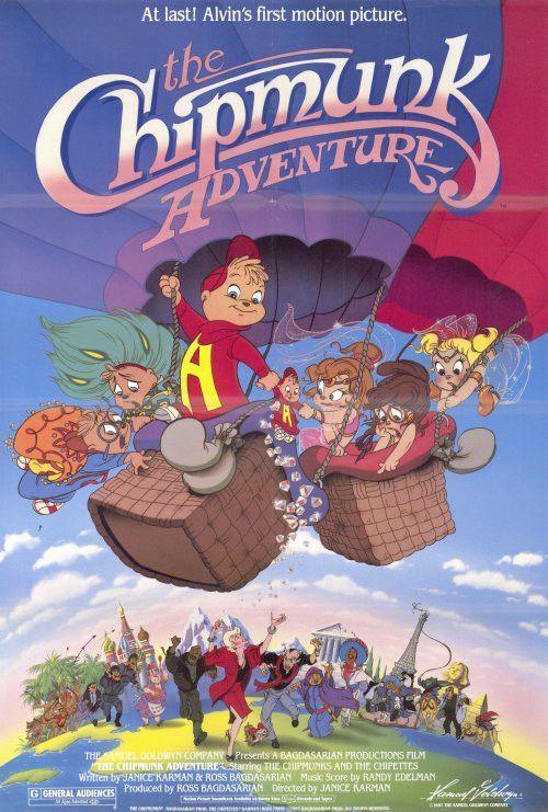 The Chipmunk Adventure 27x40 Movie Poster 1987 Chipmunks Movie