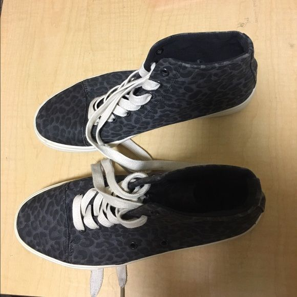 Hi top sneakers Dark animal print. Fairly used. In good condition. Feel free to make offers. Forever 21 Shoes Sneakers