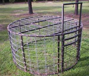 Round Cage Trap For Wild Boar Hog Hunting Pinterest