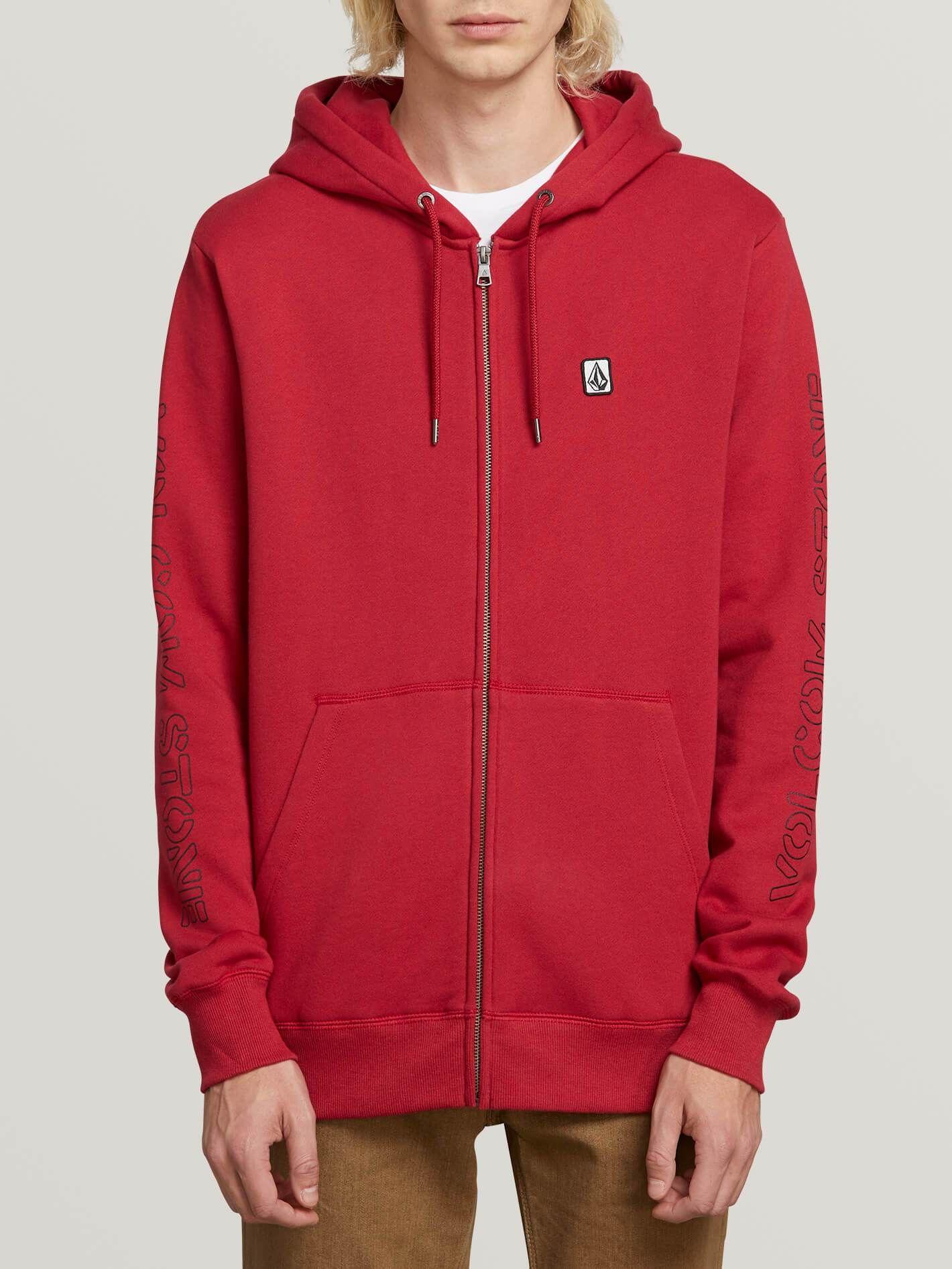 Volcom Mens Supply Stone Zip Up Hooded Fleece Sweatshirt