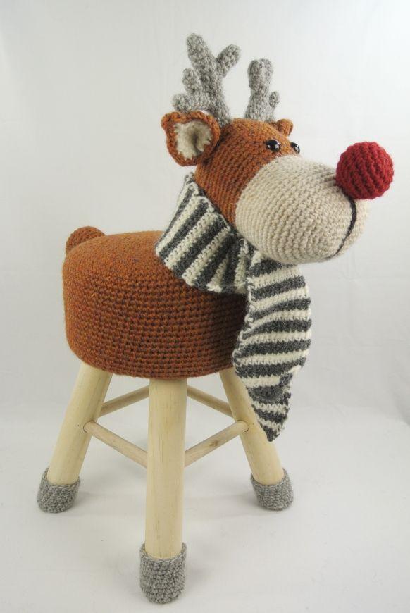 Animals Stool Elk Crochet Haken Kruk Haken En Breien