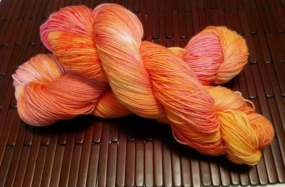 Catching Fire Kettle Dyed Superwash Merino Sock Yarn Made to Order