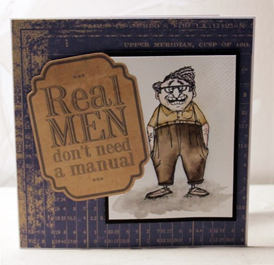 Art Impressions Ai Golden Oldies Handmade masculine card.