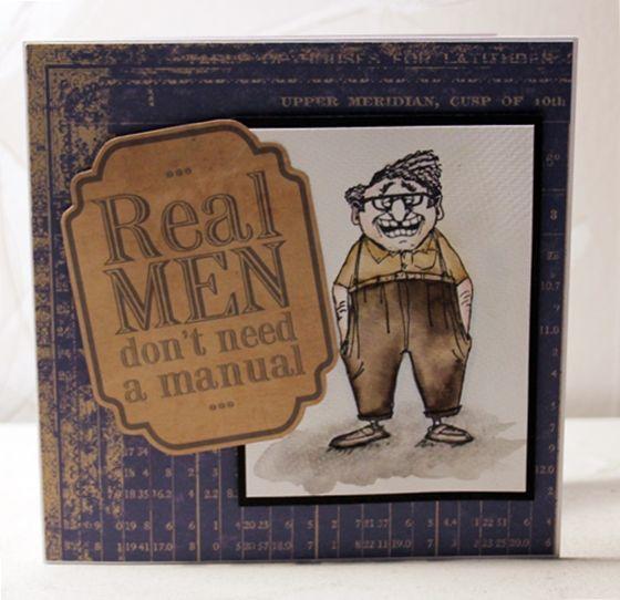 Art Impressions Ai Golden Oldies Handmade masculine card.