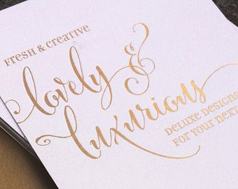 Gold Foil Wedding Invitation Printed Sample Blush Pink And Bronze Calligraphy