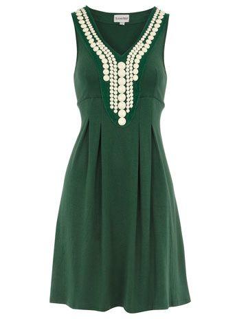 Dorothy Perkins Green beaded tunic dress