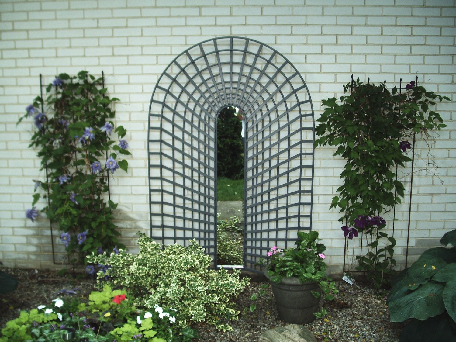 3 D Trompe L Oeil Garden Trellis With Mirror With Images