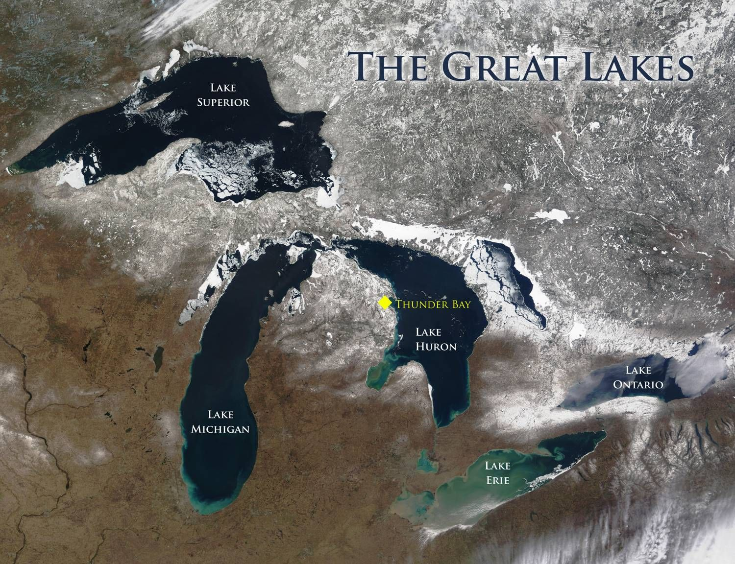 Thunder Bay Michigan Map.Lake Huron Shipwreck Maps Map Showing The Great Lakes And Our