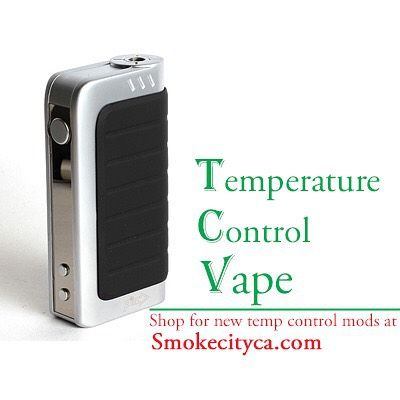Temperature Control Mods | Smokecityca.com  Getting the power you expect from your mod shouldn't mean risking the hot, burned taste of dry hits. Not only do they taste bad, but if e-juice reaches combustion, you start getting nasty chemicals. Temperature-control mods are the answer. #vape #vaping #ecig #vapemod #vapelife #calivapers #tempcontrolmod #pinit #vooping #