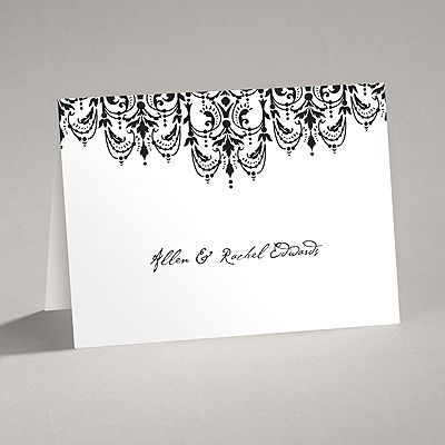 Chandelier Damask  Thank You Note And Envelope  Wedding Ideas