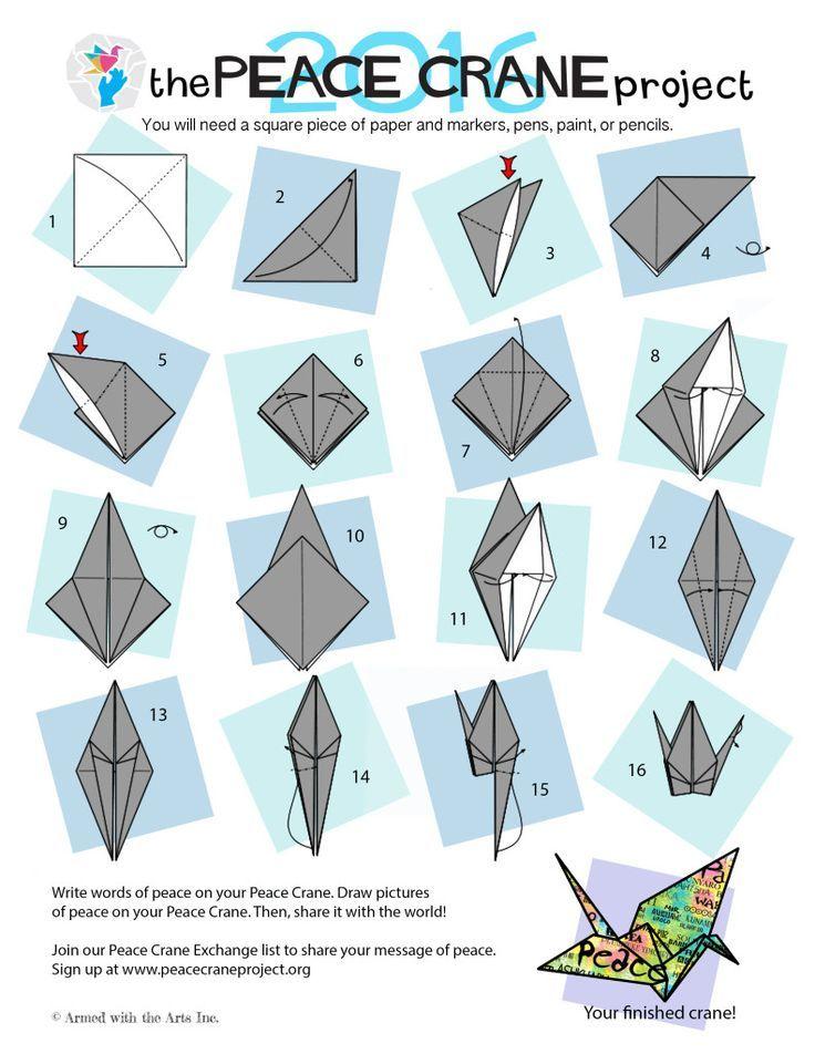 How To Fold A Peace Crane Easy Origami Crane Instructions