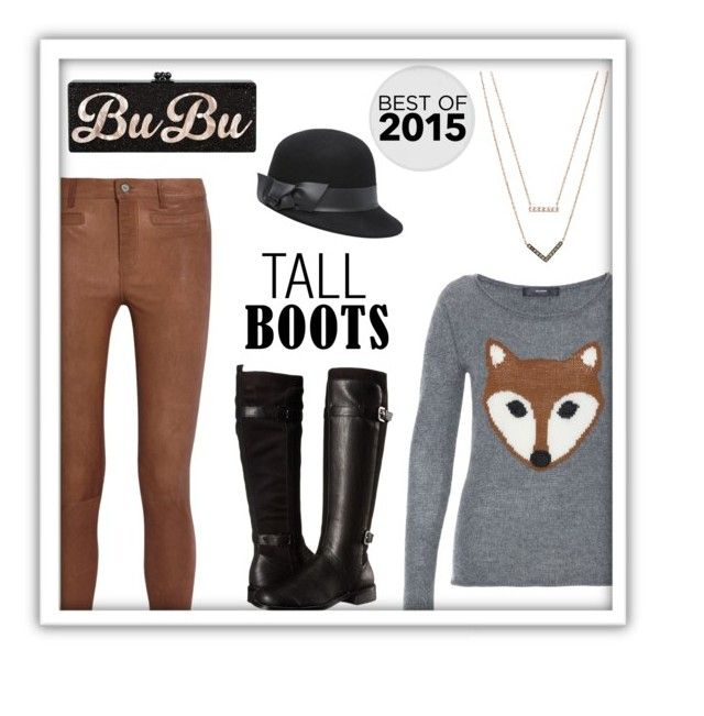 """""""Tall Boots"""" by alynncameron ❤ liked on Polyvore featuring Hallhuber, MiH Jeans, Aerosoles, Michael Kors, Bebe and bestof2015"""