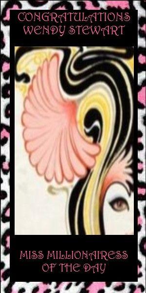 84) Wendy Stewart~ Miss Millionairess of the Day. www.pinterest.com/wsmodern/