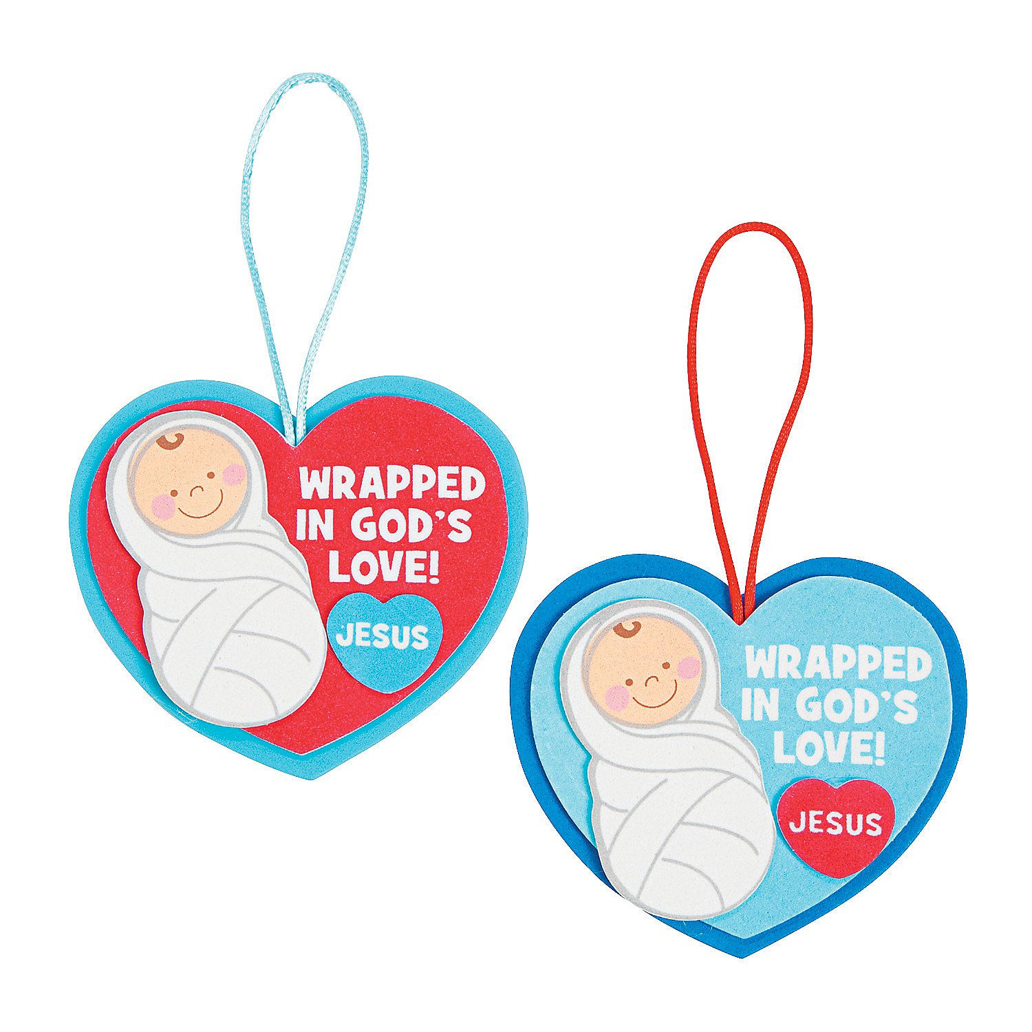 Christmas ornament craft kit - Wrapped In God S Love Christmas Ornament Craft Kit Orientaltrading Com