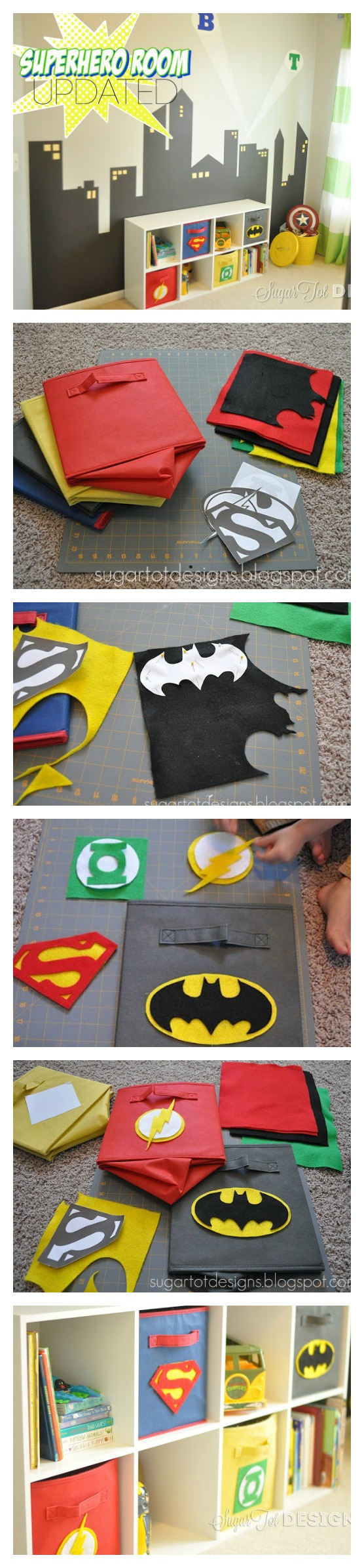 D co chambre enfant ado th me super h ros diy d co chambre enfant superhero boys room - Deco chambre super heros ...