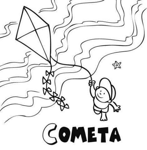 Imagenes de nios elevando cometas para colorear  Imagui  Pascua