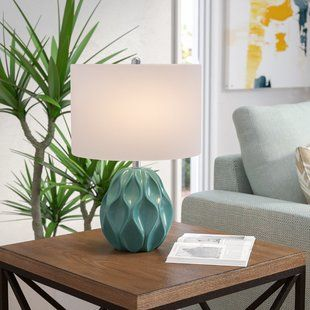 Best Mid Century Modern Table Lamp Teal Wayfair Table Lamp 400 x 300