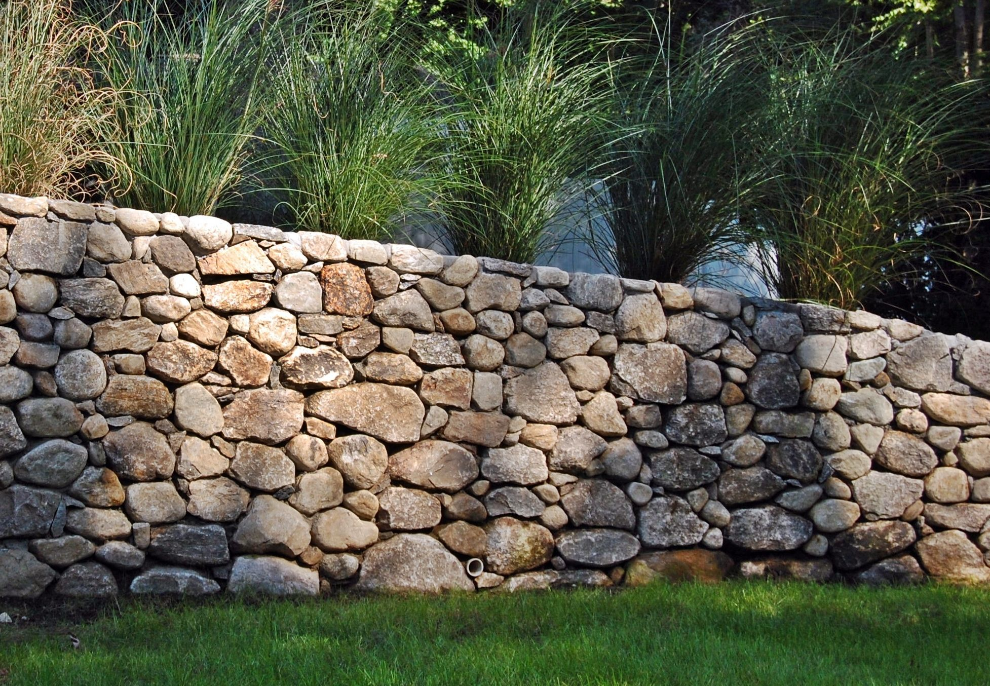 Stone Wall Dry Look Stone Retaining Walls Fairfield