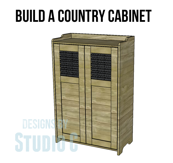 Country Storage Cabinet Plans Wooden