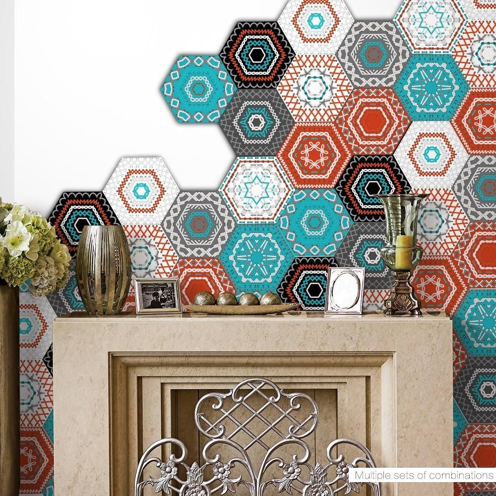 Self Adhesive Tile Art Floor Wall Decals Tile Art Bathroom Wall Decals Sticker Wall Art