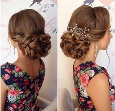 Low Set Bun Curly Updo Soft Loose Wedding Hairstyles