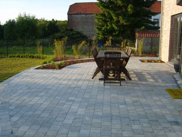 Terrasse pierre bleue bois composite pavé exterieur Pinterest - pave pour terrasse exterieur