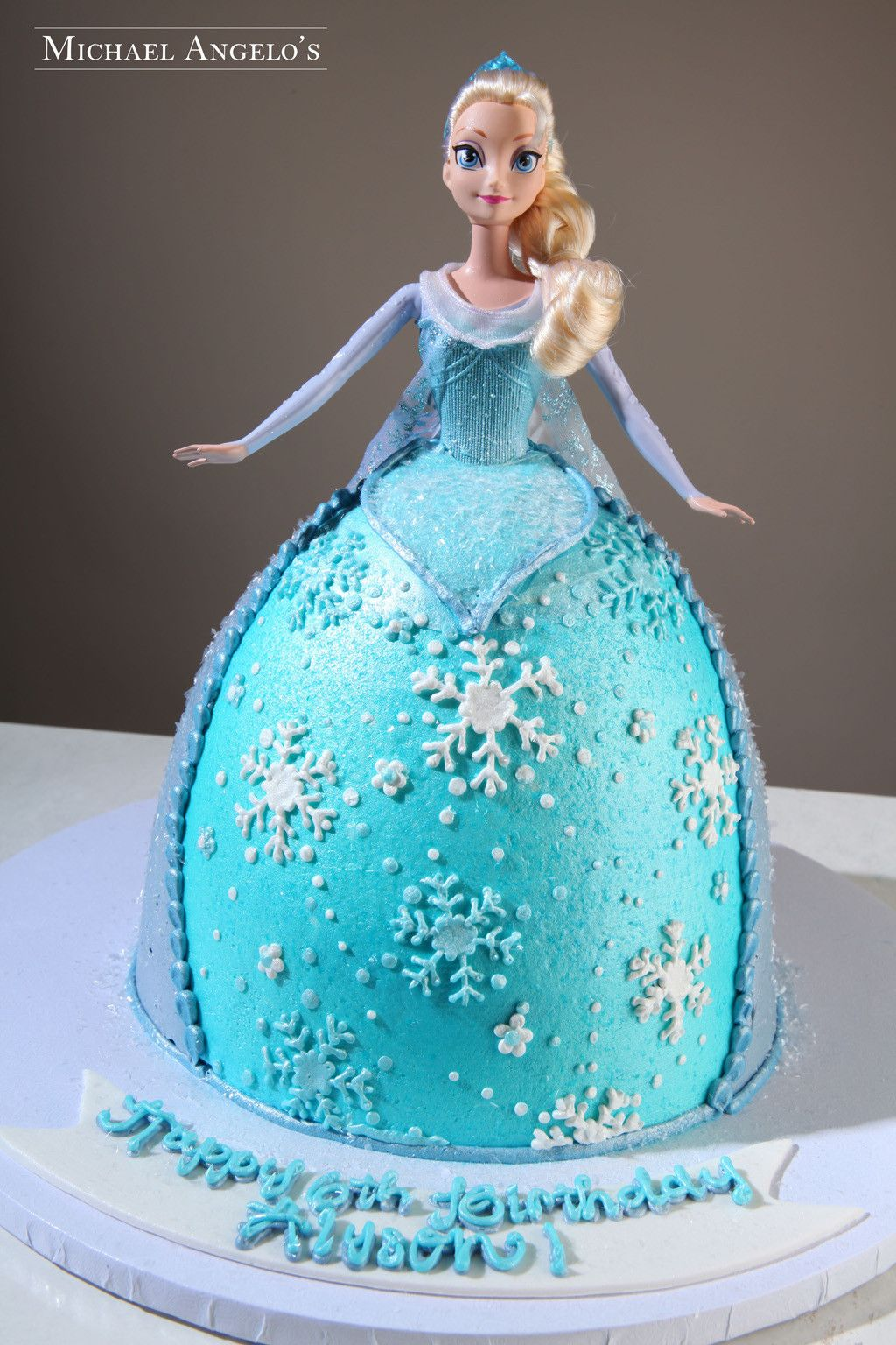 Elsa Doll Cake Decorations : Frozen Elsa Doll #105Characters by Michael Angelo s Bakery ...
