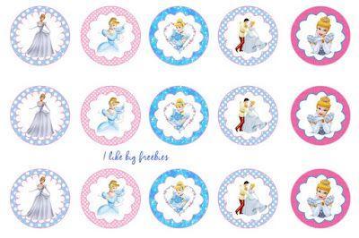 FREE Cinderella bottlecap images for hair bows