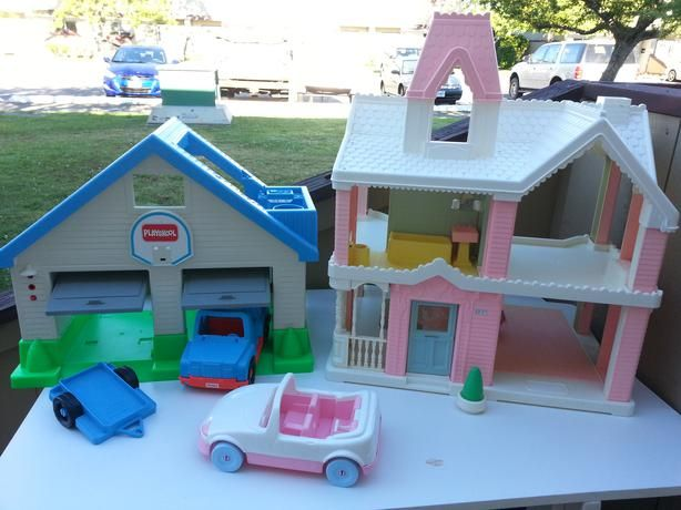 Playskool Dollhouse And Garage I Never Had The Garage But I