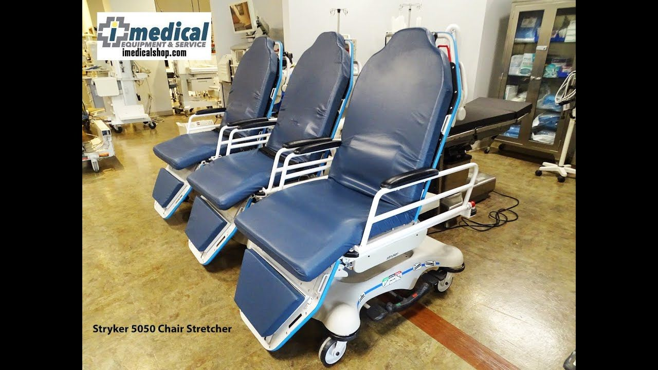 Stryker 5050 Chair Stretcher Gurney Stryker medical, Bed