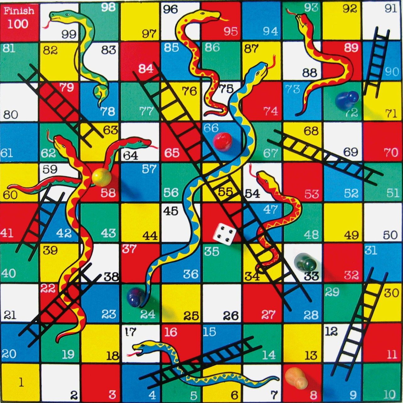 Chutes and ladders game board template classical snakes for Chutes and ladders board game template