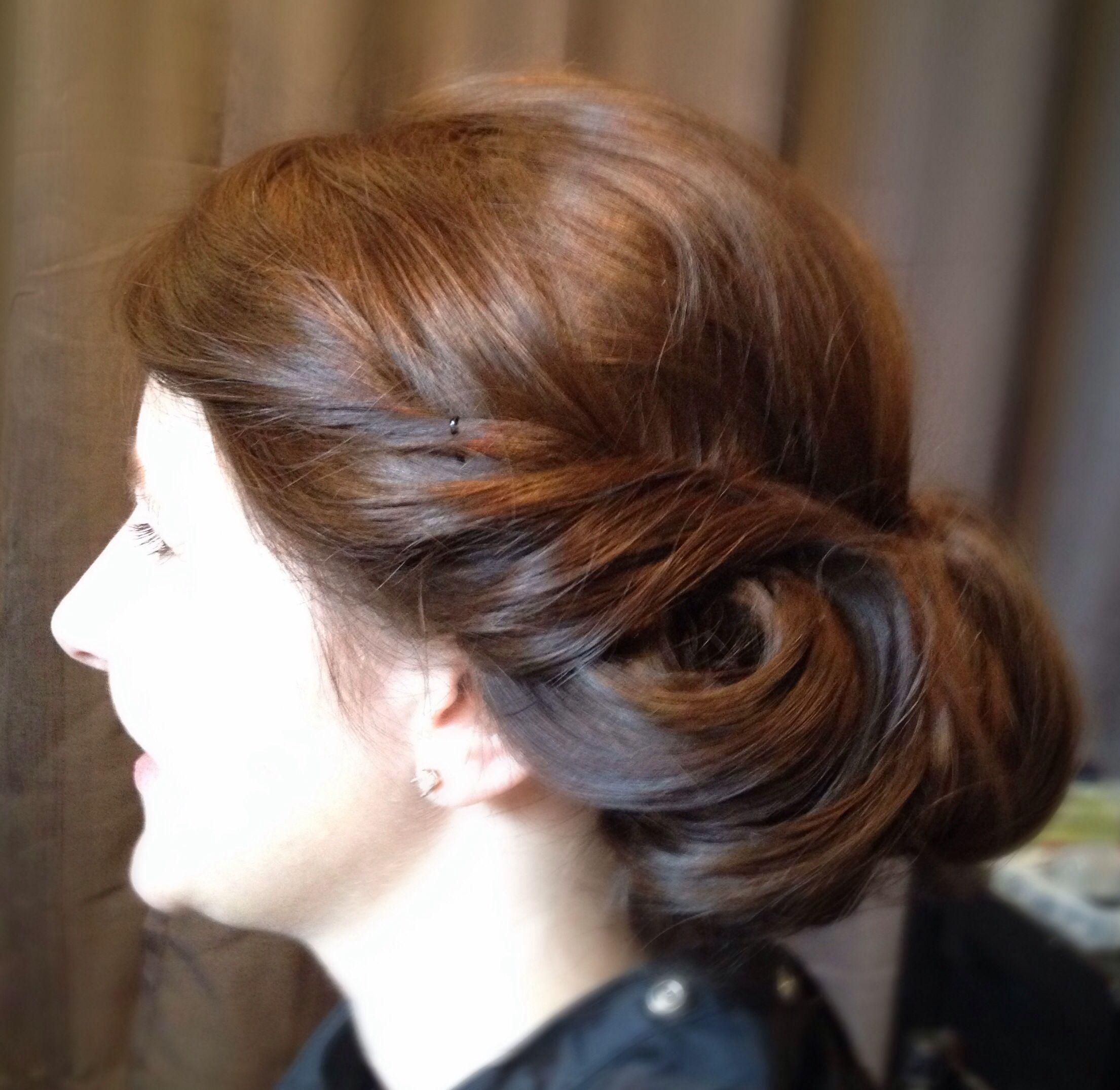 retro rolled chignon wedding hairstyle | majestic mountain