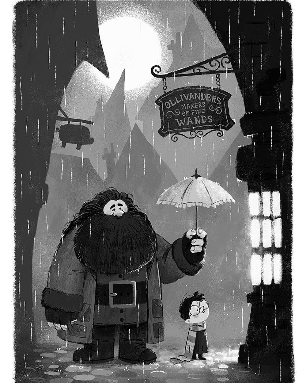 Harry Potter by - Chris Chatterton ( chatterton1) su Instagram