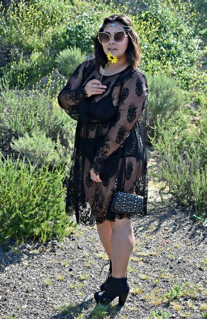 dfd4378f8d1 Plus size boho style - Coachella inspired outfit