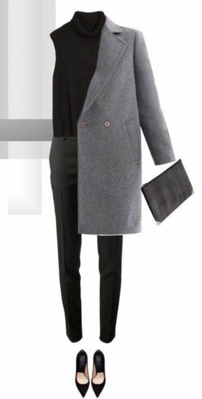 Einzigartig Grauer Mantel Kombinieren Foto Von Grau Damen Modetrends Herbstmode Outfit