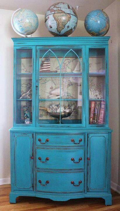 Bright Pop Of Color China Cabinet
