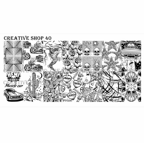 Creative Shop- Stamping Plate- 40