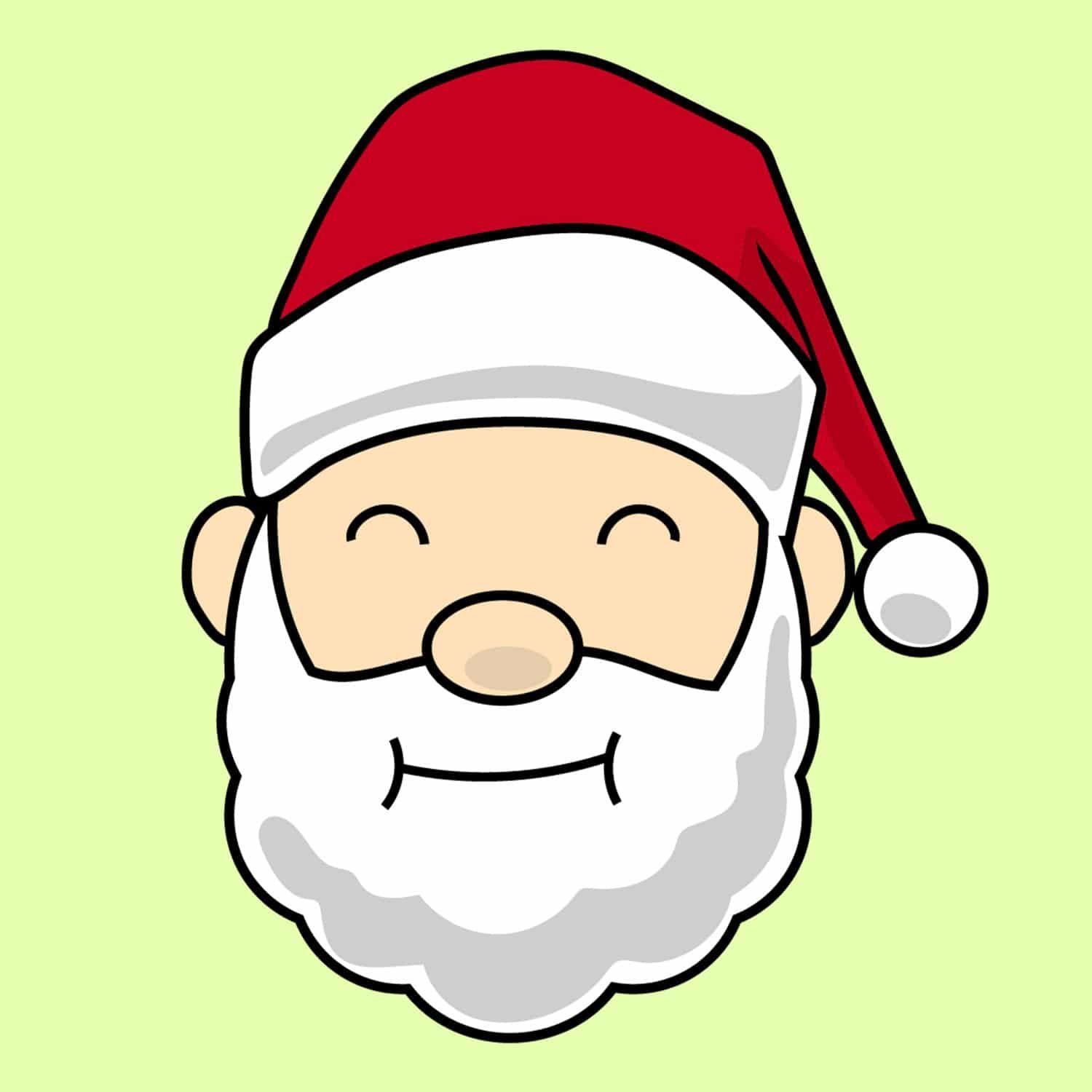 Free Cute Santa Face Clipart For Your Holiday Decorations Santa Face Christmas Tree Clipart Clip Art