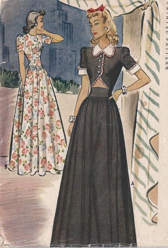 Gorgeous Vintage 1941  Misses' Evening by CottageLaneTreasures, $44.95