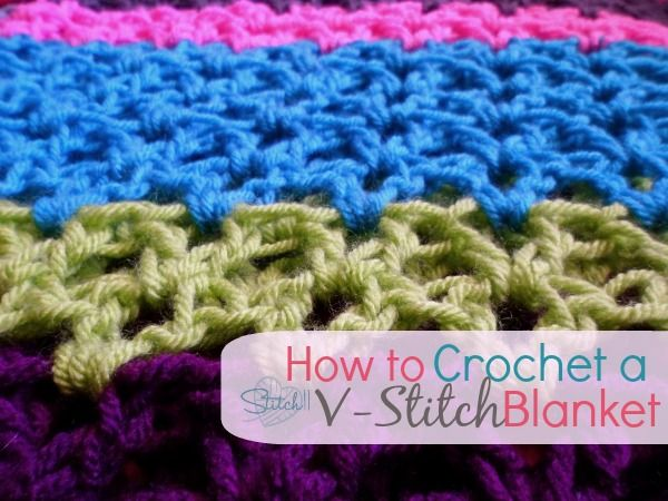 How To Crochet A V Stitch Blanket Afghans Blankets Pinterest