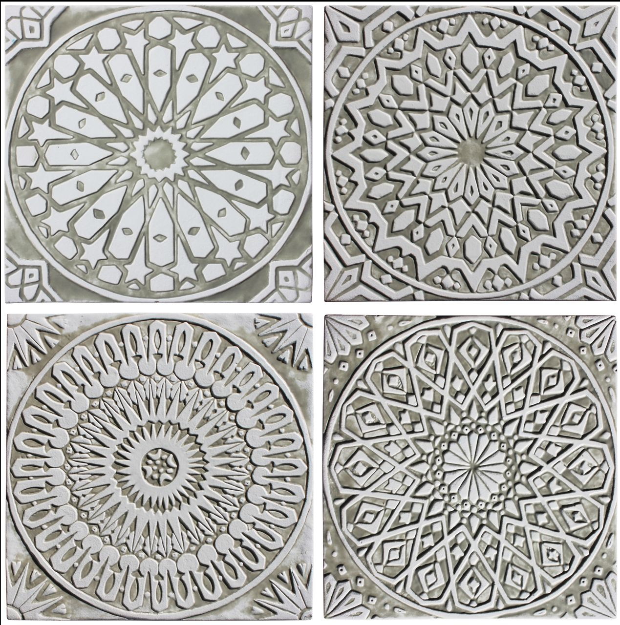 Ceramic Wall Art Moroccan Designs White Collection Hand Made Tiles Architectural Ceramics Www G Moroccan Wall Art Ceramic Wall Art Geometric Wall Art