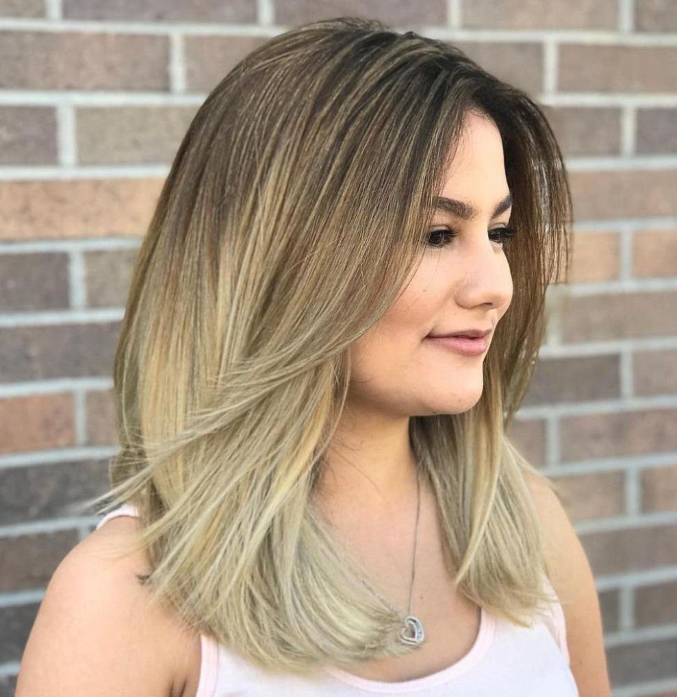 40 stunning medium hairstyles for round faces bangs with