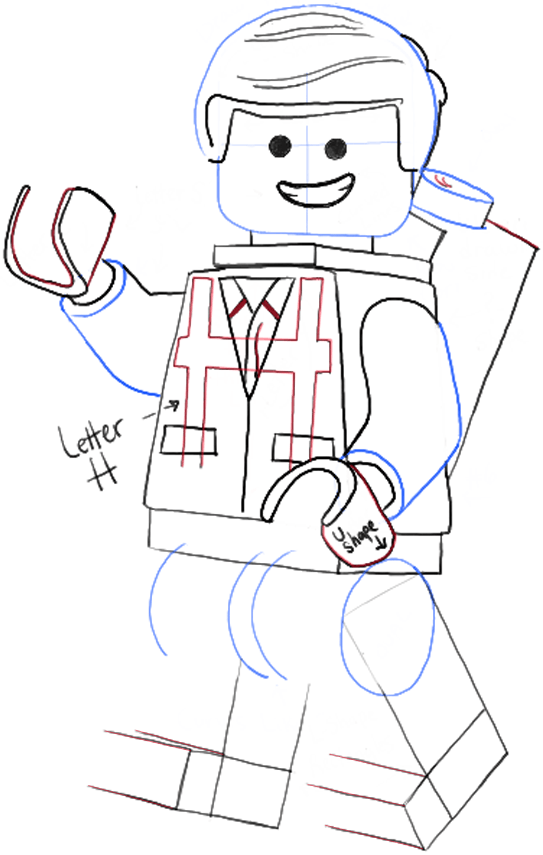Emmet Is The Main Character In Lego Movie That Coming Out Soon He A Minifigure Construction Workerhe Basically Uncreative And