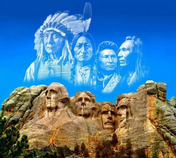 Great American native Spirit over Mr. Rusmore | Native american history,  Native american culture, Native american indians