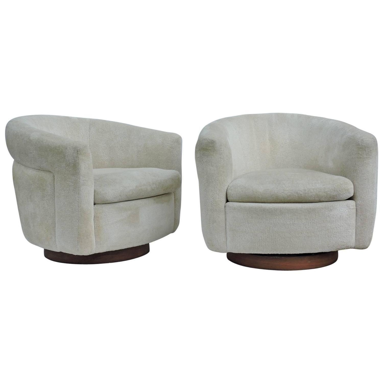 metal tub chair adirondack resin chairs milo baughman swivel for thayer coggin perry st